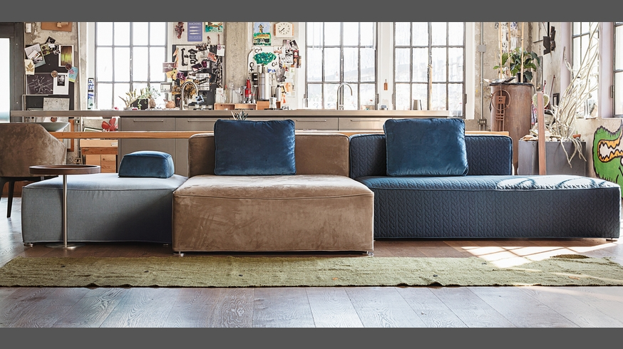 Lovely 275 Glam, Modular Sofa With Removable Fabric Or Leather Covers
