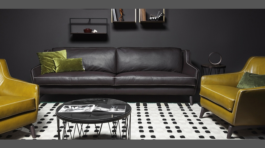 575 hi story designer sofa and armchair made in italy for Made divani